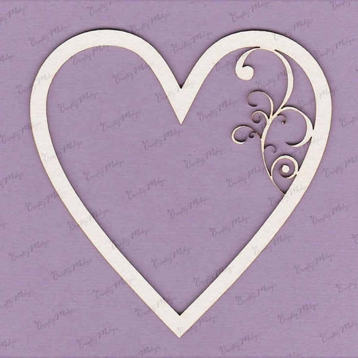 Crafty Moly - Cardboard element - Heart frame