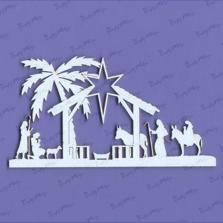 Crafty Moly - Cardboard element - Christmas crib