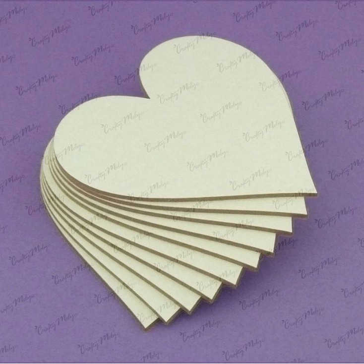 Crafty Moly - Cardboard element - Heart, 10 pc