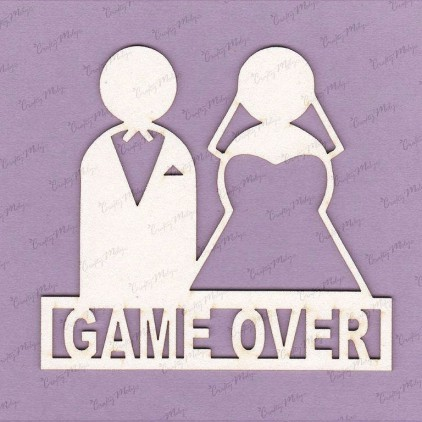 game over - laser cut, chipboard - Crafty Moly 713