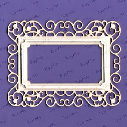 Klara frame laser cut, chipboard - Crafty Moly 958