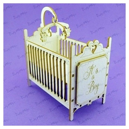 cardboard element infant bed 3d - Crafty Moly 987