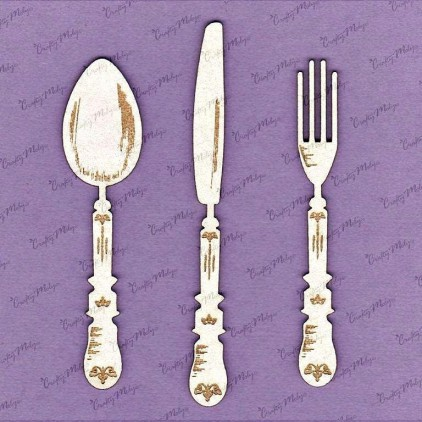 Crafty Moly - Cardboard element - Cutlery set 13 cm
