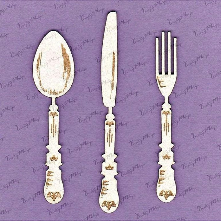 Crafty Moly - Cardboard element - Cutlery set 13 cm