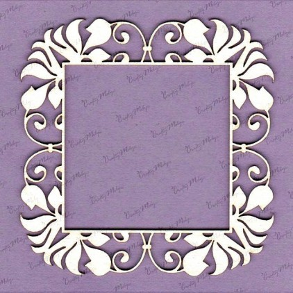 Ida frame laser cut, chipboard - Crafty Moly 699