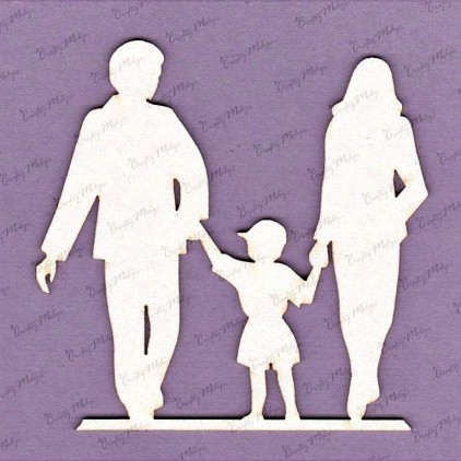 719 laser cut, chipboard - Family with boy Crafty Moly