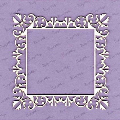 Angelina frame laser cut, chipboard - Crafty Moly 675