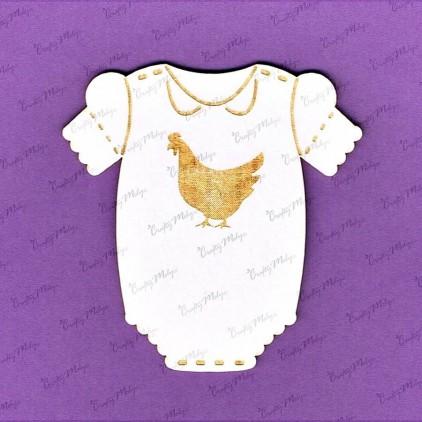 861 tekturka - niemowlęce body z kogucikem - Crafty Moly