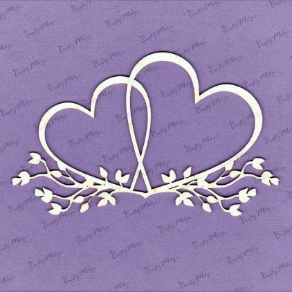685 laser cut, chipboard - Double hearts Crafty Moly