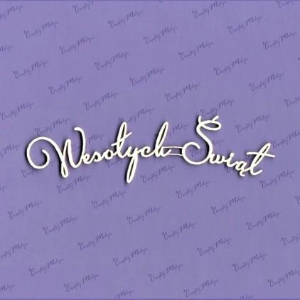 Crafty Moly - Tekturka - napis - Wesołych Świąt 5