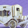 Crafty Moly - Cardboard element - Carriage 3d, mini