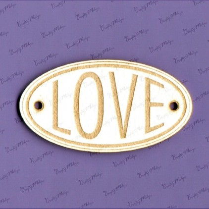 Crafty Moly - Cardboard element - LOVE oval 02