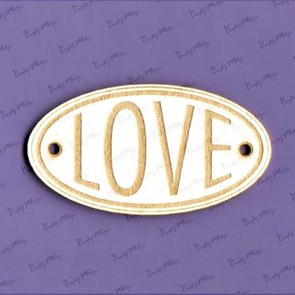 Crafty Moly - Cardboard element - LOVE oval 02