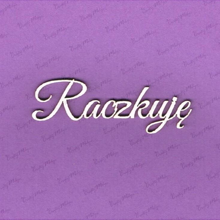 Crafty Moly - Cardboard element - Polish inscription