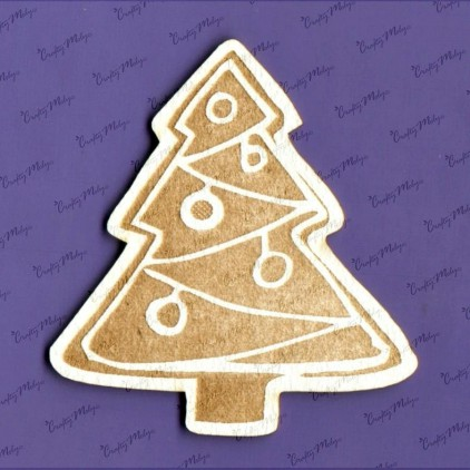 Crafty Moly - Cardboard element - Gingerbread Christmas tree