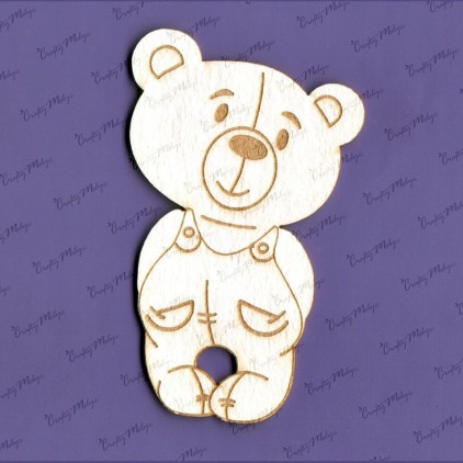 984 laser cut, chipboard Teddy bear Teodor - Crafty Moly