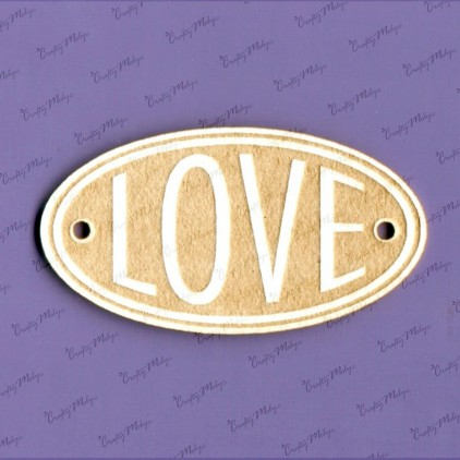 Crafty Moly - Cardboard element - LOVE oval 01