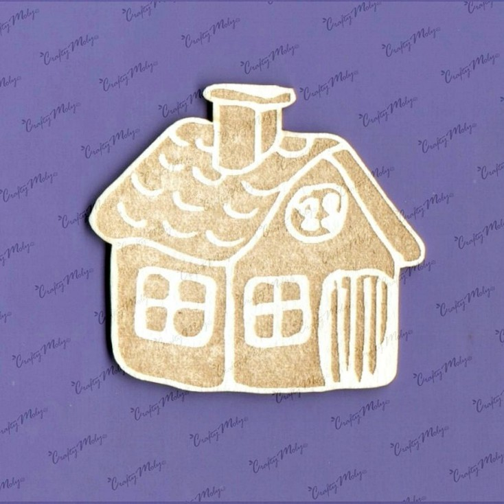Crafty Moly - Cardboard element - Gingerbread house