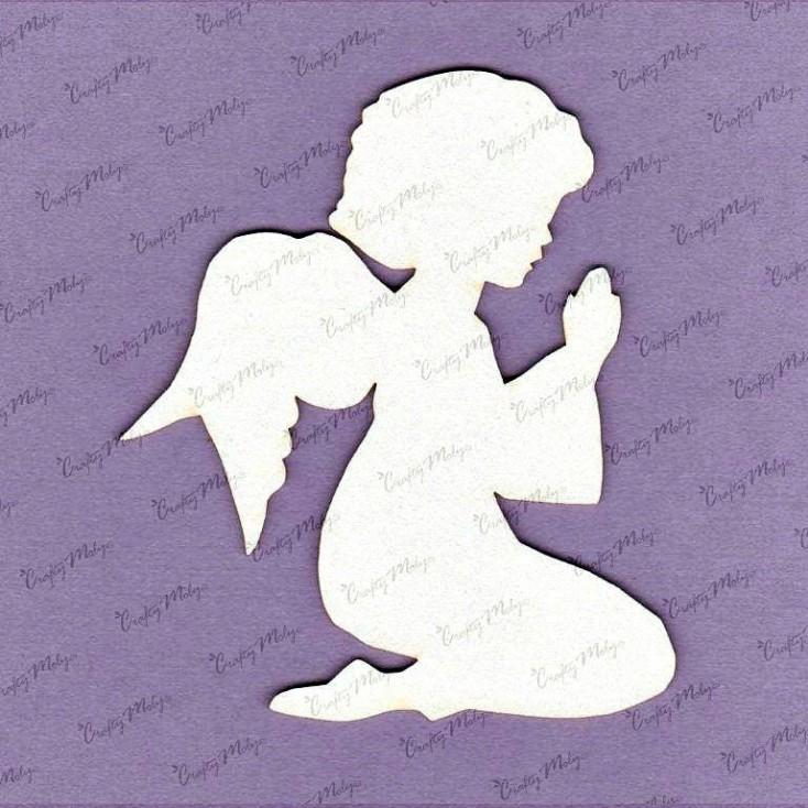 Crafty Moly - Cardboard element - Angel - girl