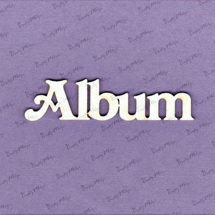 Album napis mały - tekturka - Crafty Moly 524