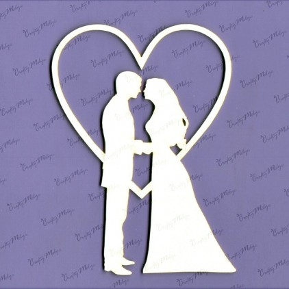 426 laser cut, chipboard Kiss - Crafty Moly