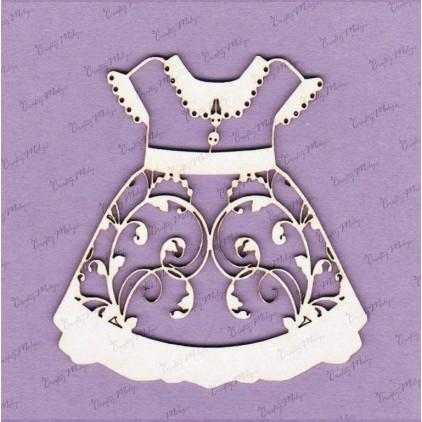 647D tekturka - sukienka duża - przód - Crafty Moly