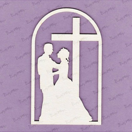 425 - laser cut, chipboard Marriage vow Crafty Moly