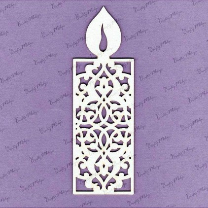 Crafty Moly - Cardboard element - Candle openwork 2 - large