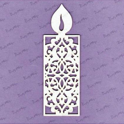 tekturka świeczka ażurowa 2 - średnia - Crafty Moly 637S