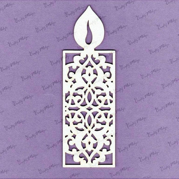 Crafty Moly - Cardboard element - Candle openwork 2 - little