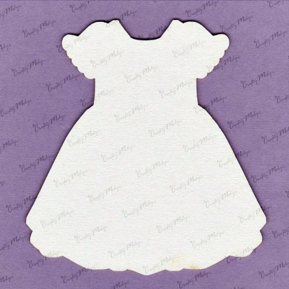 647MT laser cut, chipboard tiny dress - back - Crafty Moly
