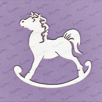 066D laser cut, chipboard Rocking horse - large - Crafty Moly