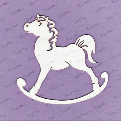 Crafty Moly - Cardboard element - Rocking horse - large