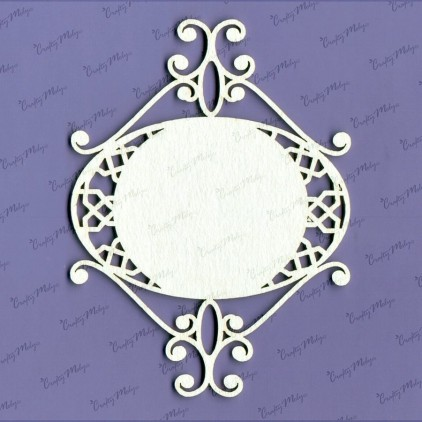 Amanda frame laser cut, chipboard - Crafty Moly 571