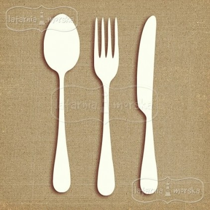 Latarnia Morska - big chipboard cutlery 6 pieces