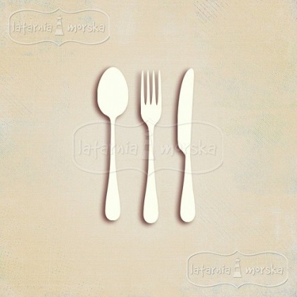 Latarnia Morska - small chipboard cutlery 6 pieces