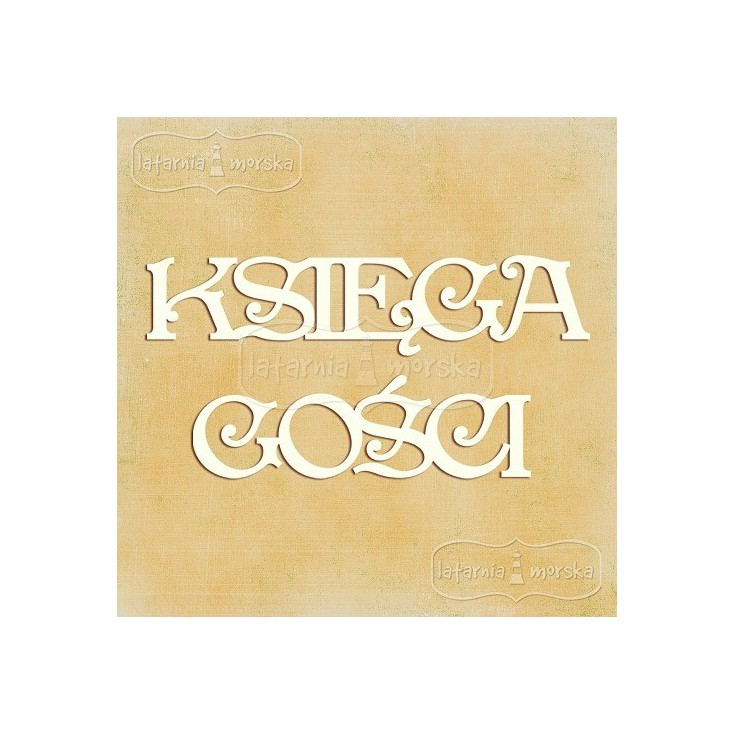 Latarnia Morska - chipboard - Polish word