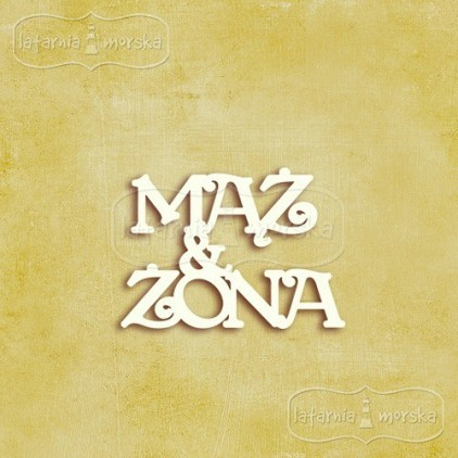 Latarnia Morska - Tekturka - napis Mąż & Żona, 7 szt.