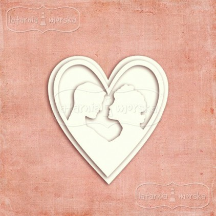 Latarnia Morska - Chipboard - Cameo pair in love