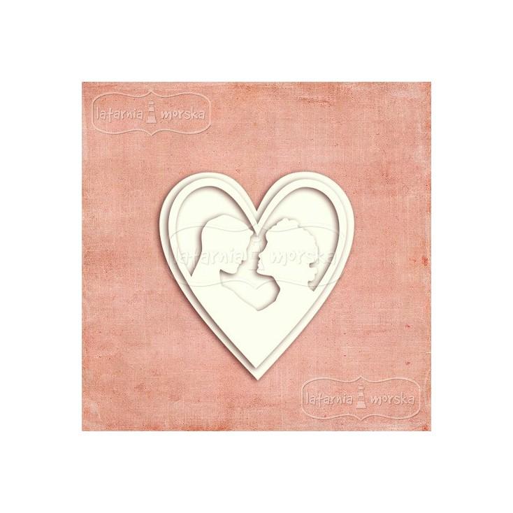 Latarnia Morska - Chipboard - Cameo pair in love