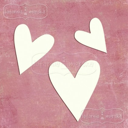 "Latarnia Morska - Chipboard - Hearts ""naive"" 8 pieces"