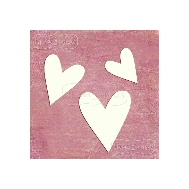 """Latarnia Morska - Chipboard - Hearts """"naive"""" 8 pieces"""