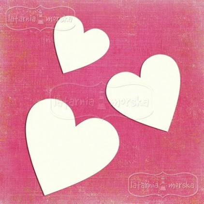 Latarnia Morska - Chipboard - Hearts 10 pieces
