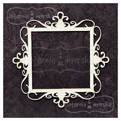 Latarnia Morska - Chipboard - Square ornamental frame