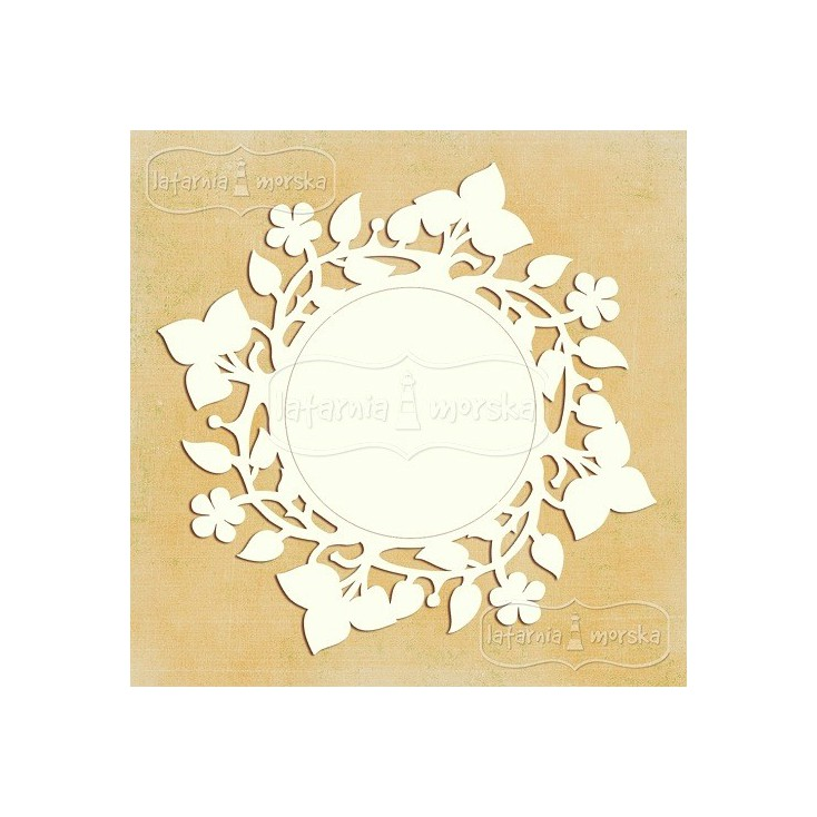 Latarnia Morska - Chipboard - Round floral frame