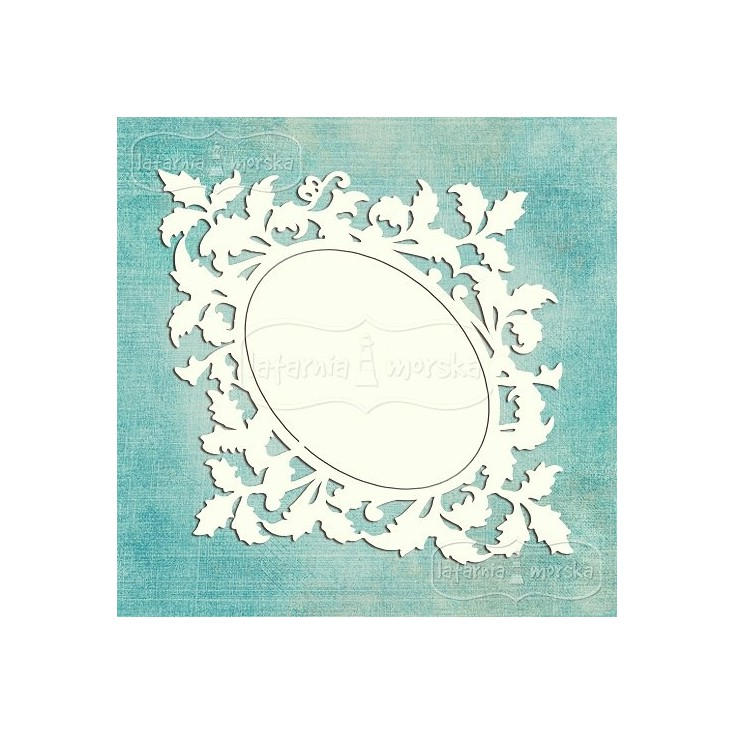 Latarnia Morska - Tekturka - Ramka ornamentowo - roślinna L (15cm )