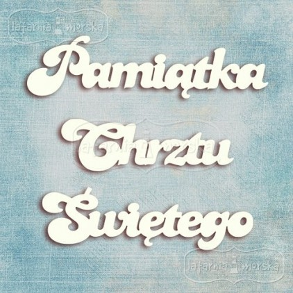 Latarnia Morska - chipboard - Polish word