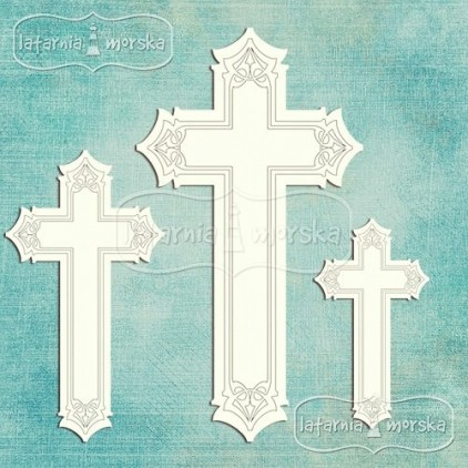 Latarnia Morska - Chipboard - Decorative crosses, 7 pieces