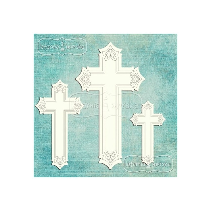 Latarnia Morska - Tekturka - Ozdobne krzyże, 7 sztuk