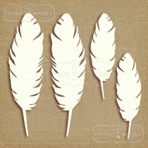 Latarnia Morska - Chipboard - Small and big feathers, 4 pieces
